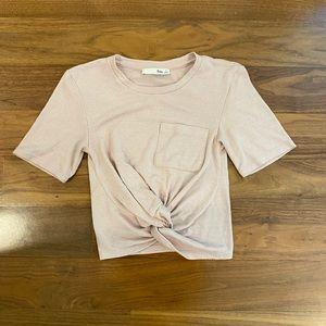 Aritzia Wilfred Free tie up shirt